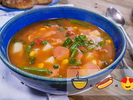 Hotdog soup