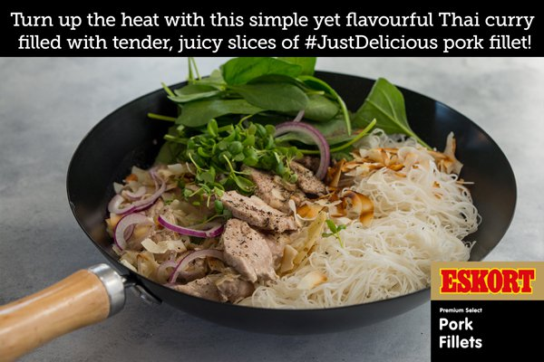 Thai Pork Fillet Green Curry with Vermicelli Noodles