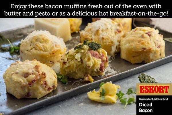 Bacon, Cheese & Cauliflower Muffins