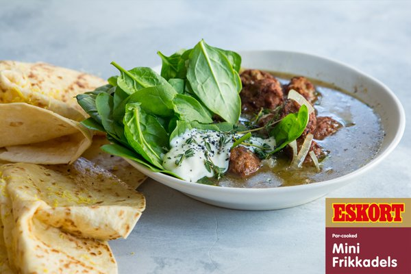 Zesty Dinner Wraps with Za'atar Frikkadel Soup