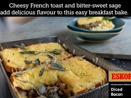 Bacon & Mushroom French Toast Bake