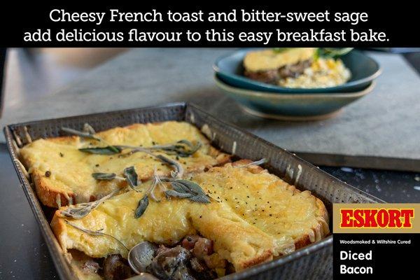 Bacon & Mushroom French Toast Bake