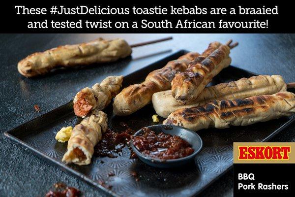 BBQ Rasher Braai Toastie Kebabs with Tomato Jam