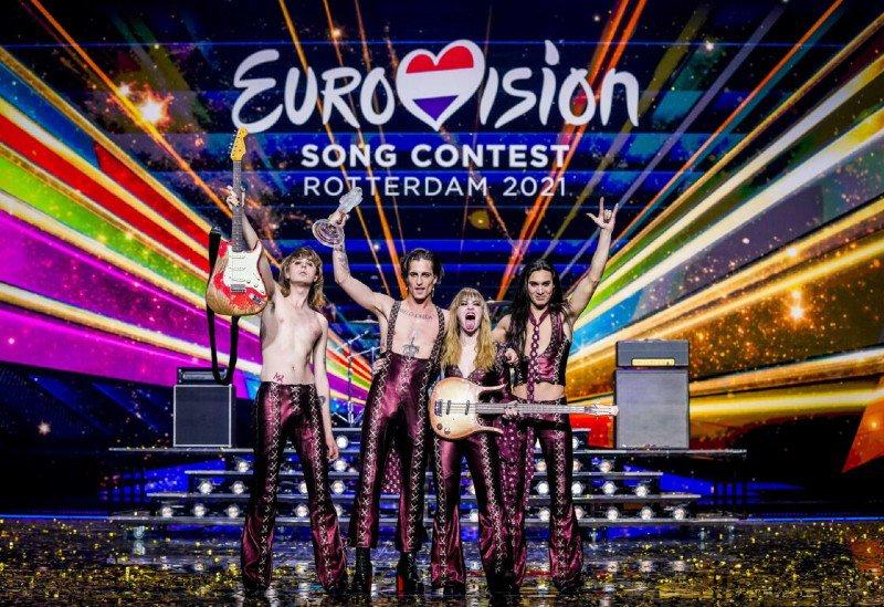 Eurovision 2021 won by Italian rockers Maneskin