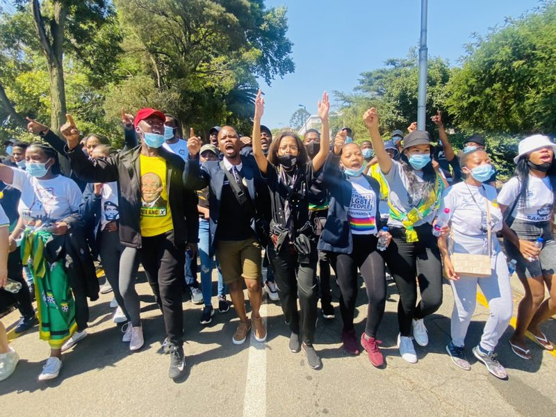 wits src leaders protest over fees 2021
