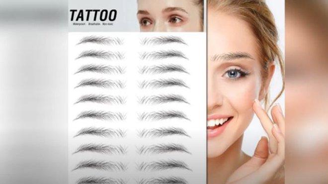 Stick-on eyebrows