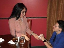 fake proposal best friends dessert