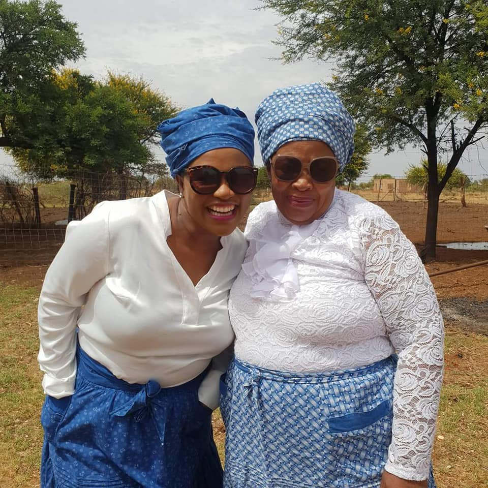 Gaopalelwe Seleka and mother in-law