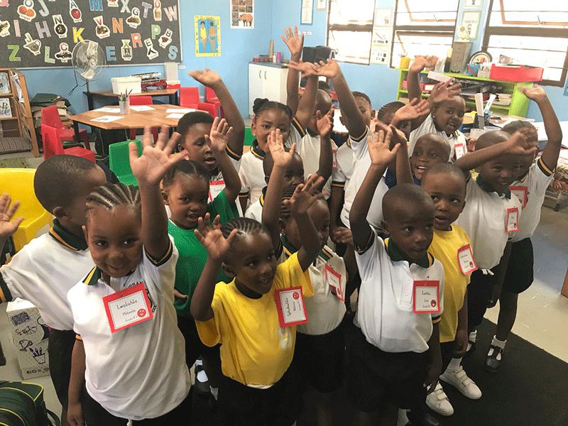 Grade R pupils at Durban Primary School