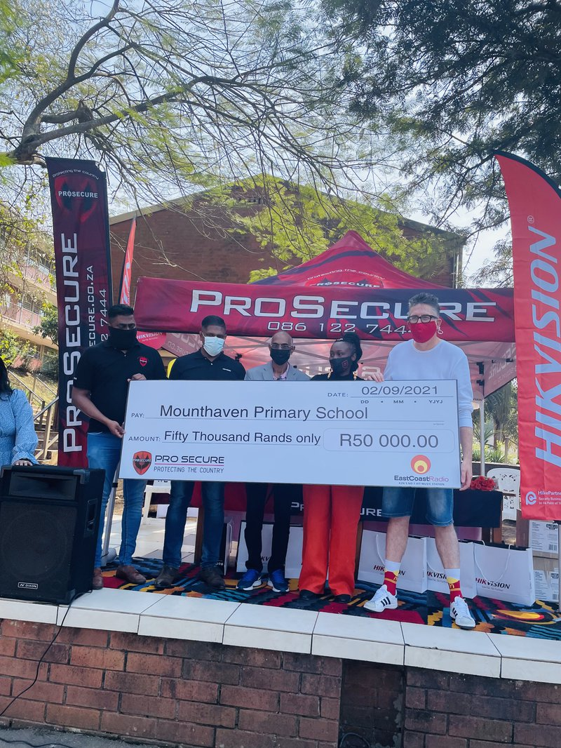 Two KZN schools receive a large donation courtesy of Pro Secure and The Big Favour