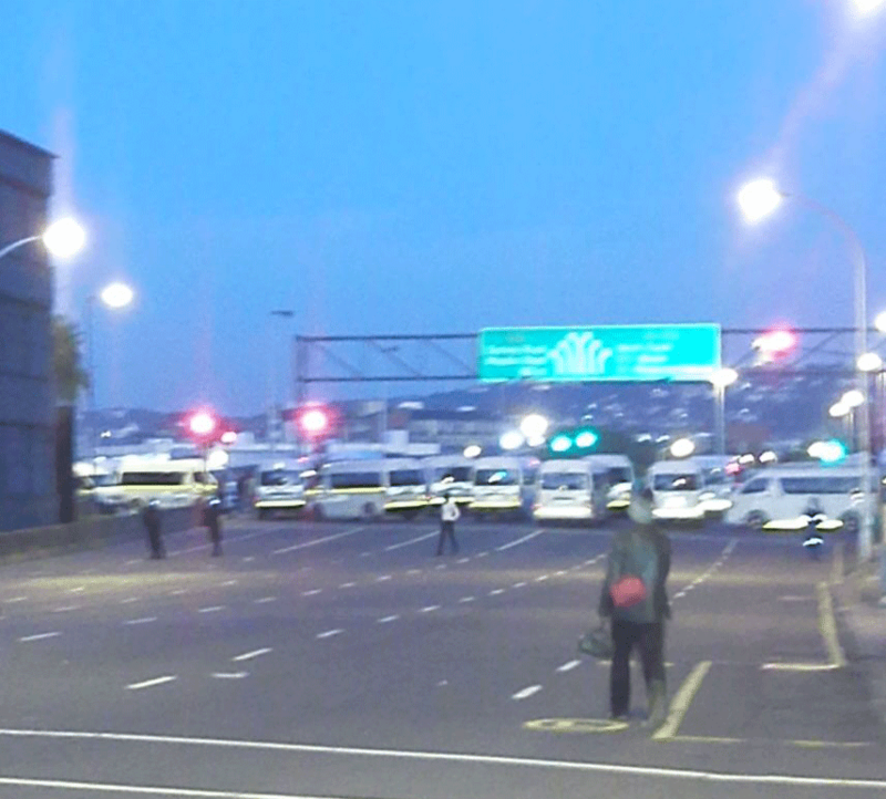 Taxi strike in Durban