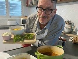 Daren Maule in the kitchen