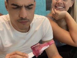 Pregnancy test on popsicle