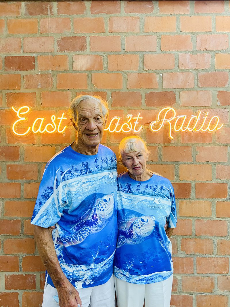 Jimmy and Wendy Saunders at East Coast Radio