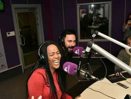 tumi very excited in studio image