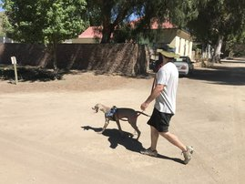 Martin Bester and Ripley walking