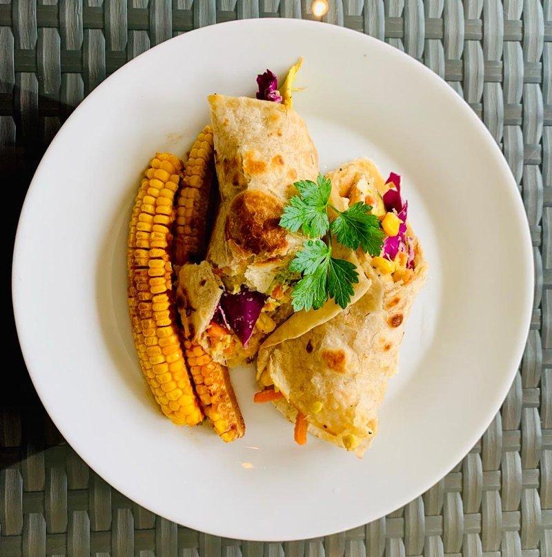 Elana Afrika-Bredenkamp's Meat Free Roti Wrap
