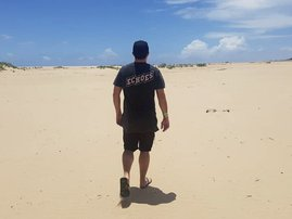 Martin Bester on holiday