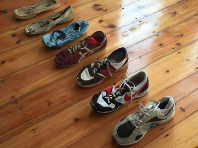 What does a #Comrades winner's running shoe look like?