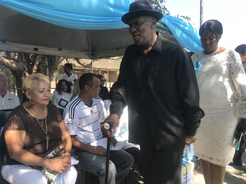 Police Minister Bheki Cele at Miguel Louw's memorial