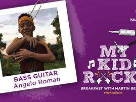 My Kid Rocks Angelo Roman bass player