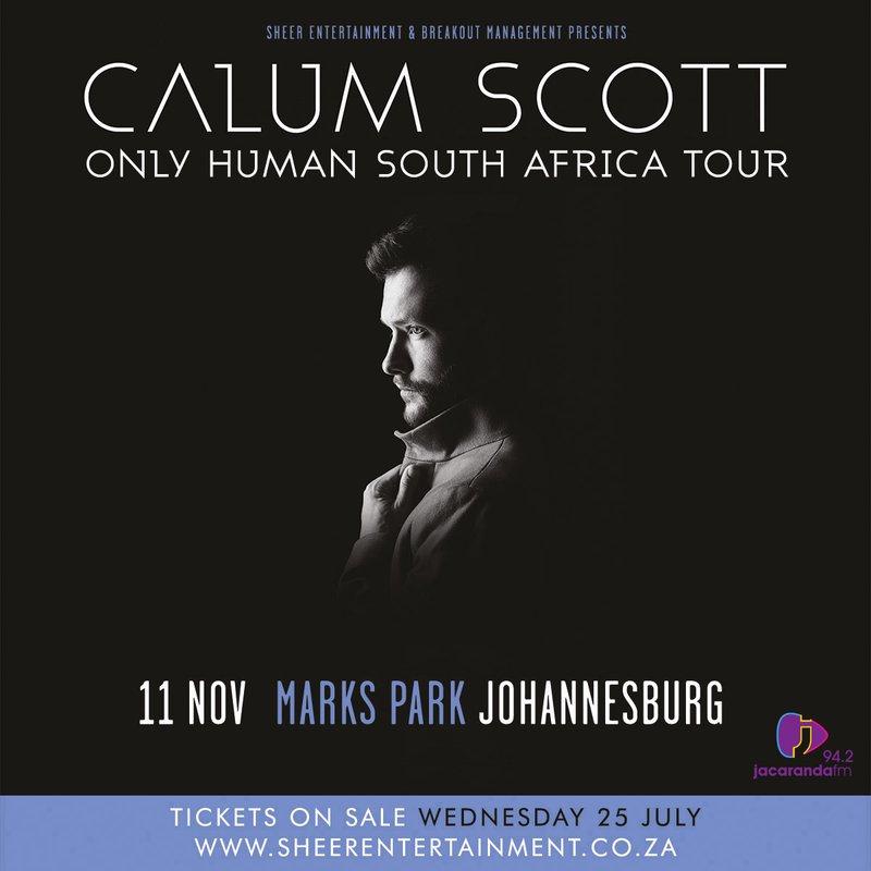 Calum Scott SA Tour