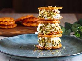 Diwali treats: Jalebi Ice Cream Sandwiches