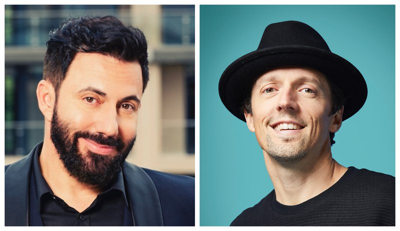 Jason Mraz and Martin Bester