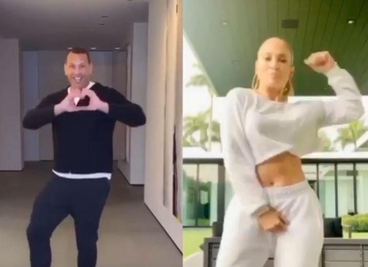 Jennifer Lopez and Alex Rodriguez's dance