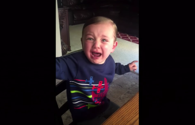 Halloween Kid crying