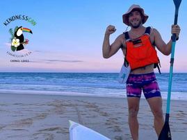 Stuart Geldart is paddling with a purpose