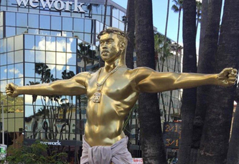 Kanye West gold statue