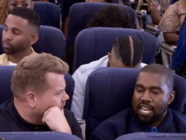 Kanye West on the Late Late show
