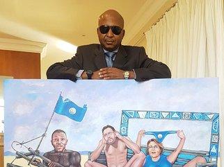 Kenny Kunene's painting