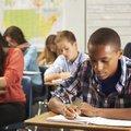 Learners writing exams