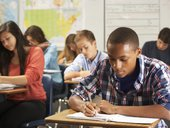 Learners writing exams
