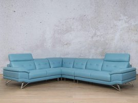 Blue san pablo sofa looted couch