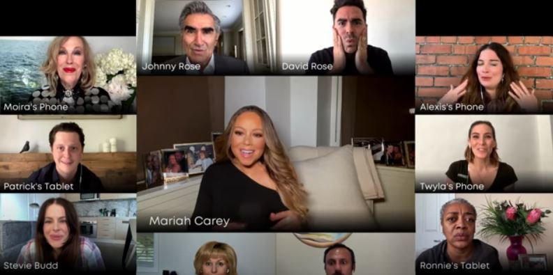Mariah Carey and the Schitt's Creek cast