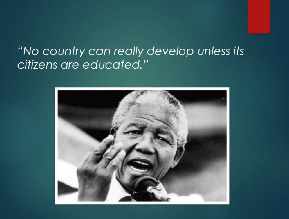 Madiba on Education - no country can develop unless its citizens are educated