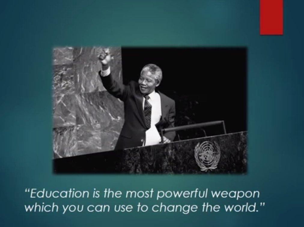 Madiba on using education to change the world