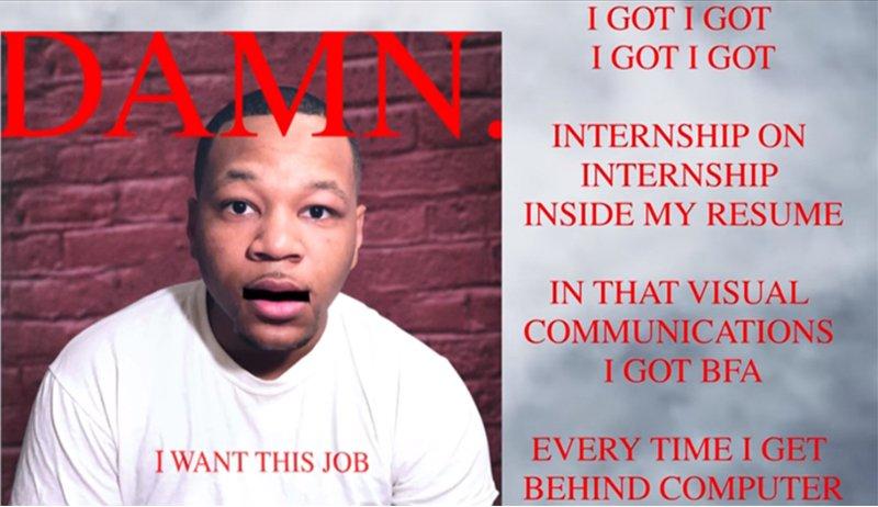 Man's rap-résumé to Kedrick Lamar's beat it's awesome!