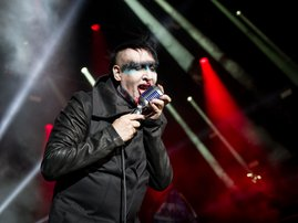 Marilyn Manson performing at the Rock Am Ring