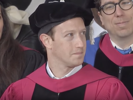 Mark Zuckerberg receives Harvard degree