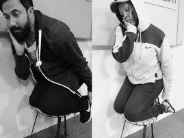 Martin and Tumi Ariana Grande stool challenge