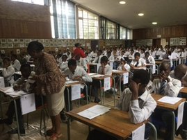 Matric pupils sit for exams