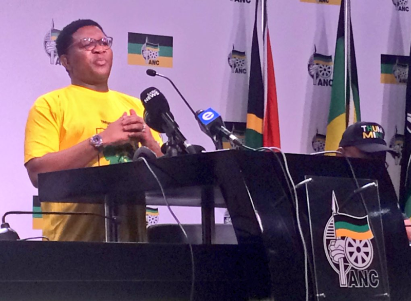 elections head Fikile Mbalula