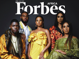 Mihlali on the cover of Forbes Africa