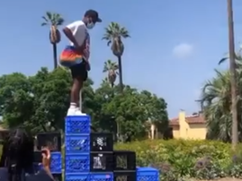 WATCH: The Milk Crate Challenge is hitting the online streets of America