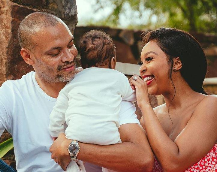 Minnie Dlamini, husband and child
