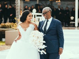 Minnie Dlamini and her dad